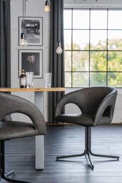 KAWOLA Besprechungsstuhl WICOS Stuhl Kunstleder grau