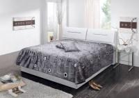 Polsterbett INA Kunstleder weiß Bett 160x200cm