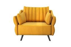 KAWOLA Sessel CELIA Polstersessel Stoff gelb
