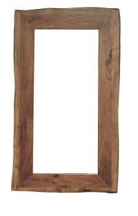 KAWOLA Spiegel groß Loft Edge Akazie Massiv-Holz Baumkante B/H/T: 115x65x2,8cm