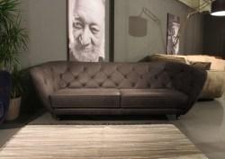 KAWOLA 3-Sitzer Sofa ASPEN Leder braun