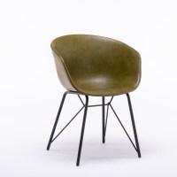4x KAWOLA Stuhl DANI Esszimmerstuhl Vierfuß Kunstleder grün