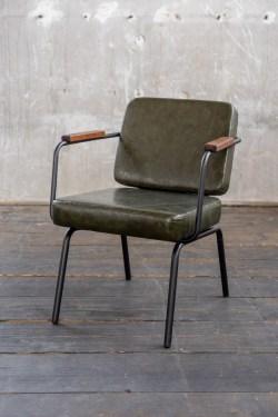 KAWOLA Esszimmerstuhl VISU Stuhl Kunstleder grün