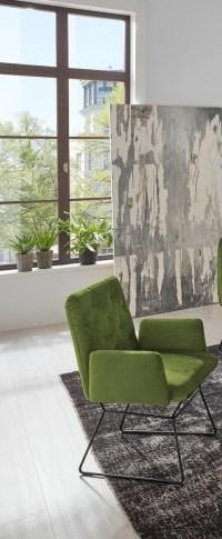 4er Set KAWOLA Esszimmerstuhl CHARME Stuhl velvet green