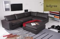 Ecksofa - Sofa Het Anker Leder Toledo hellgrün Armlehne links Lionel