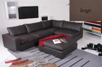 Ecksofa - Sofa Het Anker Leder Toledo beige Armlehne links Lionel