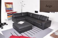 Ecksofa - Sofa Het Anker Leder Toledo beige Armlehne rechts Lionel