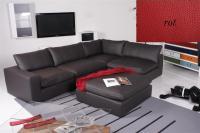 Ecksofa - Sofa Het Anker Leder Toledo rot Armlehne links Lionel