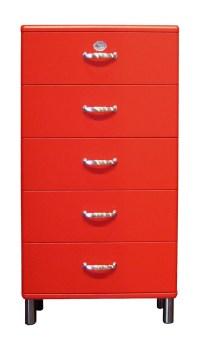 Tenzo Kommode Malibu 5215 mit 5 Schubladen rot