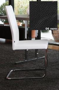 KFF Freischwinger Aura - Gestell Chrom - Leder - Nero 06