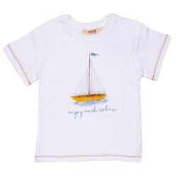 Jungen T-Shirt kurzam enjoy and relax in weiß