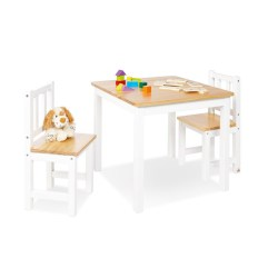 Kindersitzgruppe 'Fenna', weiß/natur, 3-tlg.