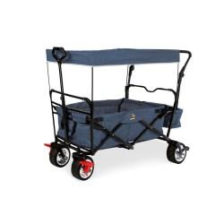 Klappbollerwagen 'Paxi Style' mit Bremse, marineblau meliert
