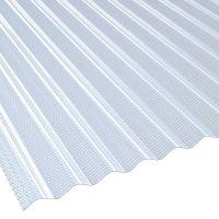 Lichtplatte 76/18 Acrylglas Sinus Wabenstruktur Klima-Blue Stärke 3 mm Breite 1,045 m lichtblau