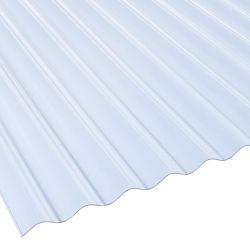 Lichtplatte 76/18 PVC Sinuswelle Stärke 1,0 mm glasklar-bläulich Breite 0,9 m
