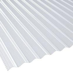 Lichtplatte Polycarbonat Sinus Wabenstruktur 76/18 Stärke 2,8 mm Breite 1,045 m glasklar HAGELSCHLAG GARANTIE