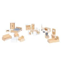 Puppenhausmöbel-Set, 20-tlg.
