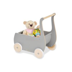 Puppenwagen 'Mette', grau
