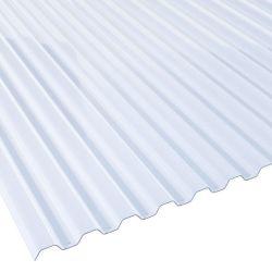 PVC Spundwand Lichtplatte 70/18 klarbläulich 1 mm Stärke 1,095 m Breite