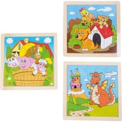 "Rahmenpuzzle ""Tierisches Set No.2"