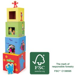 Sesamstrasse Stapelturm mit Figuren