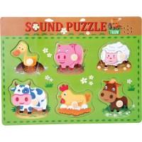 Setzpuzzle mit Tiergeräuschen