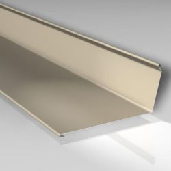 Wandanschlußprofil zum Versiegeln 12x140x140 mm - Stahlblech 35 my Polyesterlack beschichtet