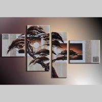 4 Leinwandbilder AFRIKA Baum (1) 120 x 70cm Handgemalt