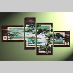4 Leinwandbilder AFRIKA Baum (7) 120 x 70cm Handgemalt