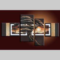 4 Leinwandbilder AFRIKA Baum (12) 120 x 70cm Handgemalt