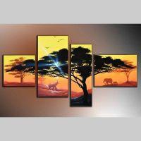 4 Leinwandbilder AFRIKA Baum (16) 120 x 70cm Handgemalt