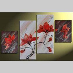 4 Leinwandbilder MAGNOLIA (4) 120 x 80cm Handgemalt