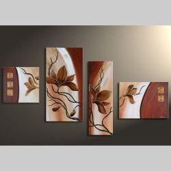 4 Leinwandbilder MAGNOLIA (10) 120 x 70cm Handgemalt