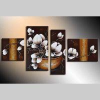 4 Leinwandbilder MAGNOLIA (18) 120 x 70cm Handgemalt