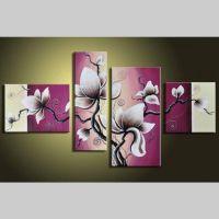 4 Leinwandbilder MAGNOLIA (19) 120 x 70cm Handgemalt