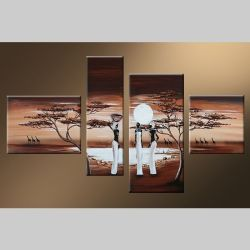 4 Leinwandbilder AFRIKA Frau (4) 120 x 70cm Handgemalt