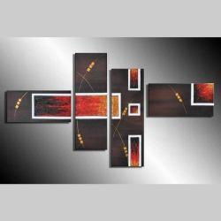 4 Leinwandbilder ABSTRAKTE KUNST (4) 120 x 70cm Handgemalt