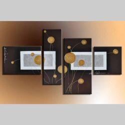 4 Leinwandbilder ABSTRAKTE KUNST (15) 120 x 70cm Handgemalt