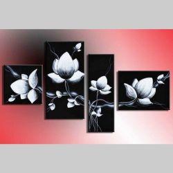 4 Leinwandbilder BLUMEN (7) 120 x 70cm Handgemalt
