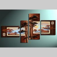 4 Leinwandbilder AFRIKA Baum (3) 140 x 80cm Handgemalt