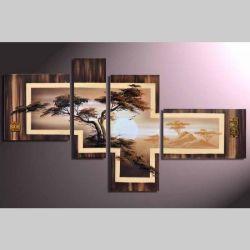 4 Leinwandbilder AFRIKA Baum (5) 140 x 80cm Handgemalt