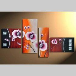 4 Leinwandbilder BLÜTE (1) 140 x 80cm Handgemalt