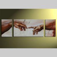 3 Leinwandbilder MICHELANGELO (1) 165 x 50cm Handgemalt