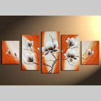 5 Leinwandbilder MAGNOLIA (4) 150 x 70cm Handgemalt