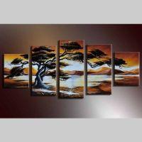 5 Leinwandbilder AFRIKA Baum (9) 150 x 70cm Handgemalt