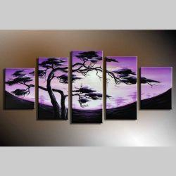 5 Leinwandbilder AFRIKA Baum (12) 150 x 70cm Handgemalt