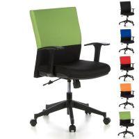 Bürostuhl ISTANBUL Schwarz-Grün aus Stoff