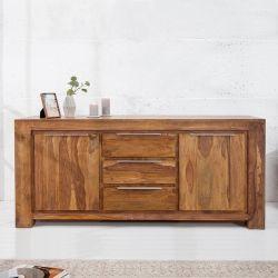 XXL Sideboard AGRA Sheesham massiv Holz gewachst 175cm