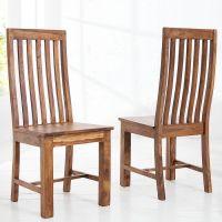 Stuhl SALEM Sheesham massiv Holz gewachst - Komplett montiert!