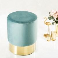 Tischlampe MARE Blau mit Leinenschirm Weiß aus Keramik handgefertigt 60cm Höhe